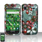 Hard Rubber Feel Design Case for Samsung Vibrant/Galaxy S T959 - Autumn Flowers