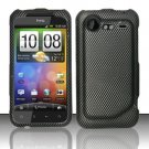 Hard Rubber Feel Design Case for HTC DROID Incredible 2 6350 (Verizon) - Carbon Fiber