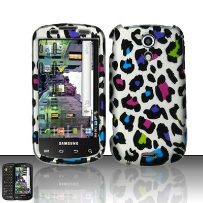Hard Rubber Feel Design Case for Samsung Epic 4G (Sprint) - Colorful Leopard