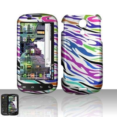Hard Rubber Feel Design Case for Samsung Epic 4G (Sprint) - Colorful Zebra