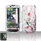 Hard Rubber Feel Design Case for Samsung Epic 4G (Sprint) - Pink Garden