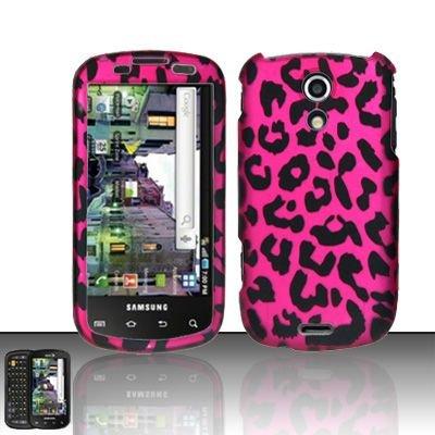 Hard Rubber Feel Design Case for Samsung Epic 4G (Sprint) - Pink Leopard