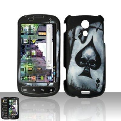 Hard Rubber Feel Design Case for Samsung Epic 4G (Sprint) - Spade Skull