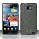 Hard Rubber Feel Design Case for Samsung Galaxy S II i777/i9100 (AT&T) - Carbon Fiber