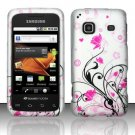 Hard Rubber Feel Design Case for Samsung Galaxy Prevail - Pink Garden
