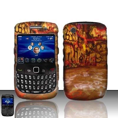 Hard Rubber Feel Design Case for Blackberry Curve 8520/9300 - Street Art