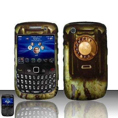 Hard Rubber Feel Design Case for Blackberry Curve 8520/9300 - Telephone