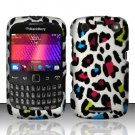 Hard Rubber Feel Design Case for Blackberry Curve 9360/9370 - Colorful Leopard