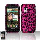 Hard Rubber Feel Design Case for Samsung Fascinate - Pink Leopard