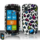 Hard Rubber Feel Design Case for Samsung Focus - Colorful Leopard