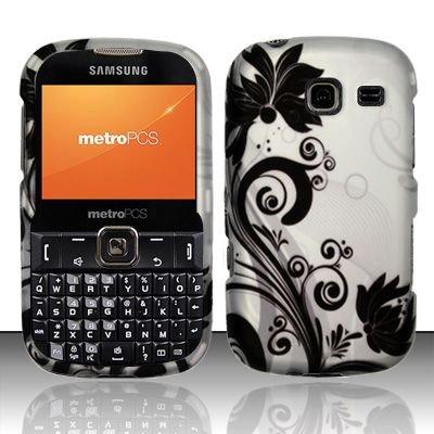 Hard Rubber Feel Design Case for Samsung Freeform 3/Comment - Black Vines