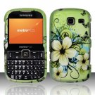 Hard Rubber Feel Design Case for Samsung Freeform 3/Comment - Hawaiian Flowers