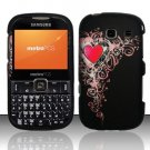 Hard Rubber Feel Design Case for Samsung Freeform 3/Comment - Royal Heart