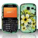 Hard Rubber Feel Design Case for Samsung Freeform 3/Comment - Natural Flowers