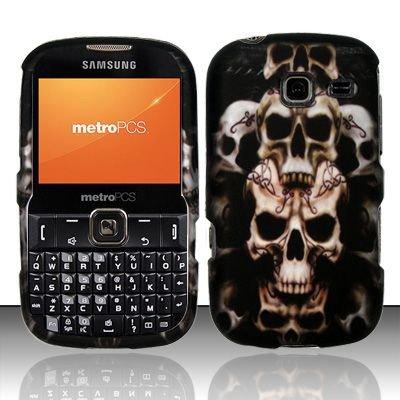 Hard Rubber Feel Design Case for Samsung Freeform 3/Comment - Ancient Skulls