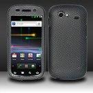 Hard Rubber Feel Design Case for Samsung Nexus S 4G - Carbon Fiber