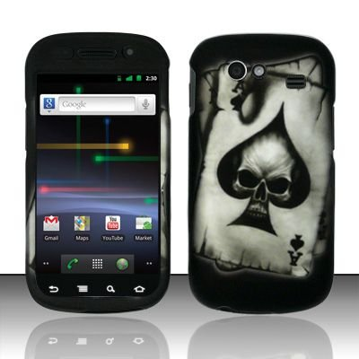 Hard Rubber Feel Design Case for Samsung Nexus S 4G - Spade Skull