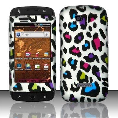 Hard Rubber Feel Design Case for Samsung Sidekick 4G - Colorful Leopard