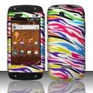 Hard Rubber Feel Design Case for Samsung Sidekick 4G - Colorful Zebra