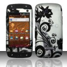 Hard Rubber Feel Design Case for Samsung Sidekick 4G - Black Vines