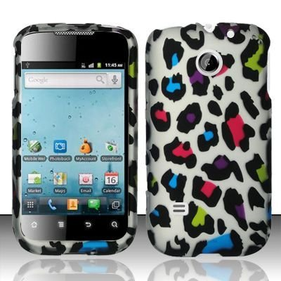Hard Rubber Feel Design Case for Huawei Ascend II M865 - Colorful Leopard