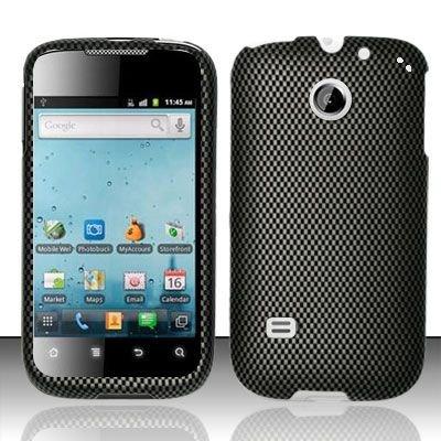 Hard Rubber Feel Design Case for Huawei Ascend II M865 - Carbon Fiber
