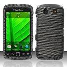Hard Rubber Feel Design Case for Blackberry Torch 9850/9860 - Carbon Fiber