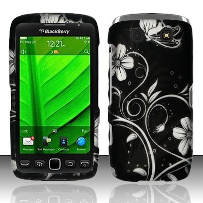 Hard Rubber Feel Design Case for Blackberry Torch 9850/9860 - Midnight Garden