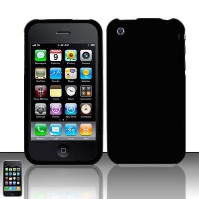 Hard Rubber Feel Slide Cover for Apple iPhone 3G/3Gs - Black