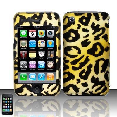 Hard Rubber Feel Design Case for Apple iPhone 3G/3Gs - Cheetah
