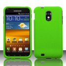 Hard Rubber Feel Plastic Case for Samsung Epic Touch 4G/Galaxy S2 - Neon Green