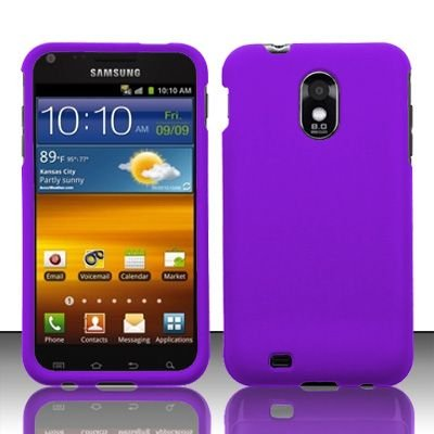 Hard Rubber Feel Plastic Case for Samsung Epic Touch 4G/Galaxy S2 - Purple