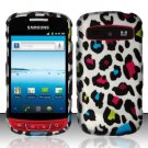 Hard Rubber Feel Design Case for Samsung Admire R720 - Colorful Leopard