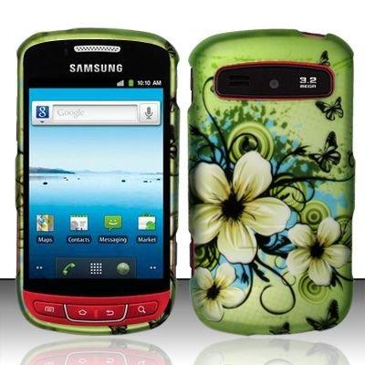 Hard Rubber Feel Design Case for Samsung Admire R720 - Hawaiian Flowers