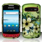 Hard Rubber Feel Design Case for Samsung Admire R720 - Hawaiian Flowers