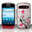 Hard Rubber Feel Design Case for Samsung Admire R720 - Pink Garden