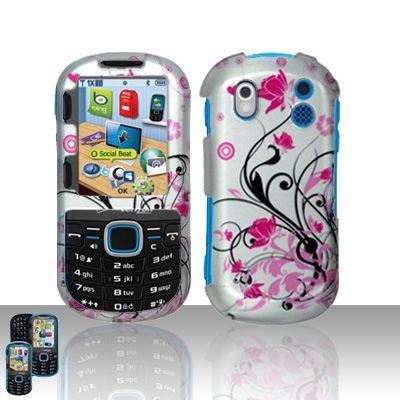 Hard Rubber Feel Design Case for Samsung Intensity 2 - Pink Garden
