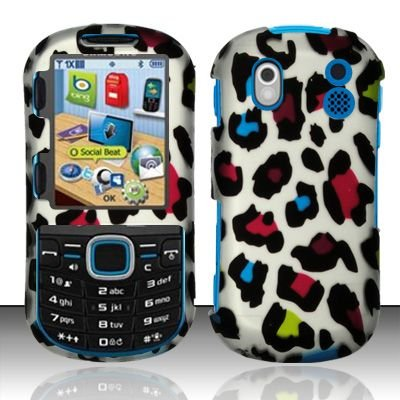 Hard Rubber Feel Design Case for Samsung Intensity 2 - Colorful Leopard