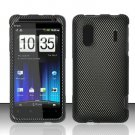 Hard Rubber Feel Design Case for HTC EVO Design 4G - Carbon Fiber