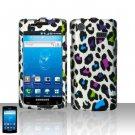 Hard Rubber Feel Design Case for Samsung Captivate i897 (AT&T) i897 (AT&T) - Colorful Leopard