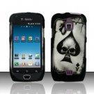 Hard Rubber Feel Design Case for Samsung Exhibit 4G - Spade Skull