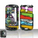 Hard Rubber Feel Design Case for Samsung Epic 4G (Sprint) - Colorful Stripes