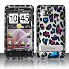 Hard Rubber Feel Design Case for HTC ThunderBolt 4G (Verizon) - Colorful Leopard
