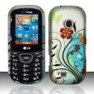 Hard Rubber Feel Design Case for LG Cosmos 2 VN251 (Verizon) - Autumn Garden
