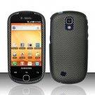 Hard Rubber Feel Design Case for Samsung Gravity Smart T589 - Carbon Fiber