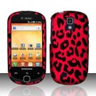 Hard Rubber Feel Design Case for Samsung Gravity Smart T589 - Pink Leopard