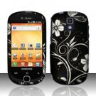 Hard Rubber Feel Design Case for Samsung Gravity Smart T589 - Midnight Garden