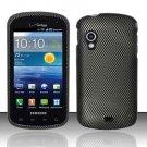 Hard Rubber Feel Design Case for Samsung Stratosphere - Carbon Fiber