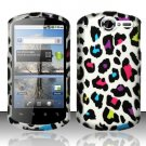 Hard Rubber Feel Design Case for Huawei Impulse 4G (T-Mobile) - Colorful Leopard
