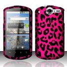 Hard Rubber Feel Design Case for Huawei Impulse 4G (T-Mobile) - Pink Leopard